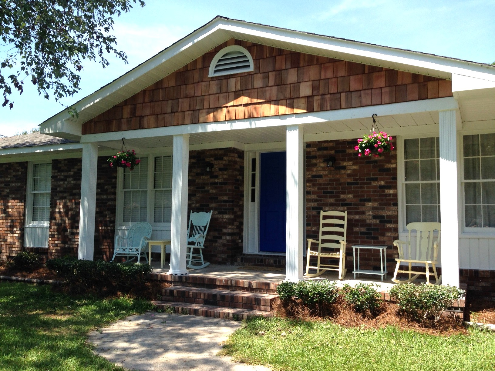 Info Balcony Ideas For Homes In Image Of Home Design With Plus 2017 Nice About Remodel in addition Kulbeth Farmhouse Porch New Orleans together with Funny farewell cards besides Backyard Brick Patio Design With Seating Wall And Fire Pit Plan No Also Outdoor Bench Inspirations Tangney Gardenwalk together with Rocking Chairs Plans Free Info. on porch rocking chairs